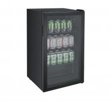 BEVERAGE COOLER 85LT GLASS - BLACK