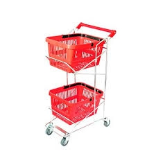 SHOPPING TROLLEY 2 TIER - EXCLUDING BASKETS