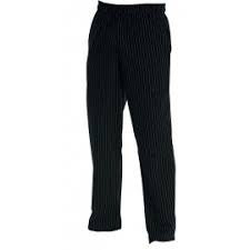 CHEF TROUSERS - BLACK BAGGIES LARGE