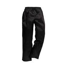 CHEF TROUSERS - BLACK ZIP XXX-LARGE